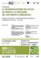 La deamarizzazione dell'oliva da mensa e la riduzione del suo impatto ambientale